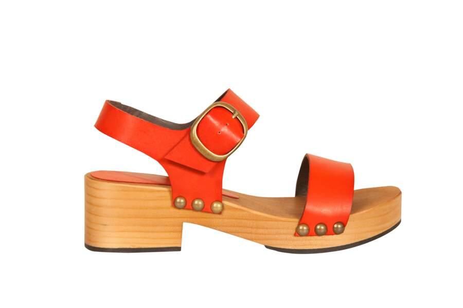 Sandales colorées, Bensimon, 135 €