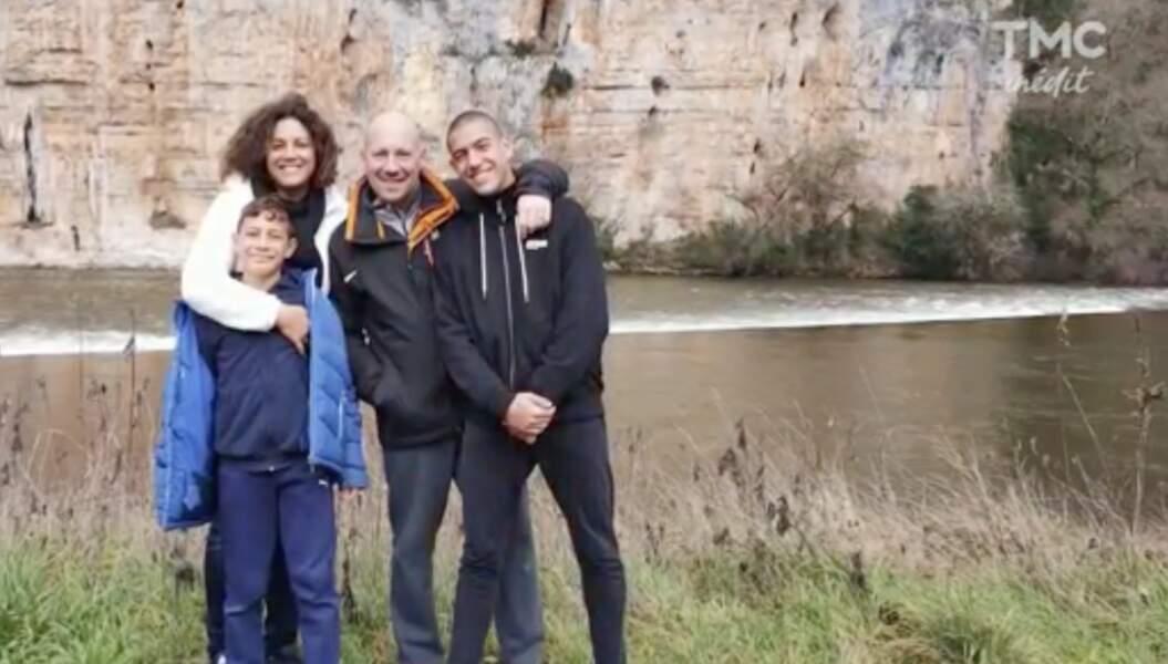 Christophe, Julie Mercy (saison 1) et leurs deux enfants