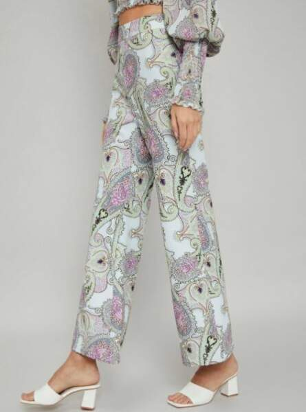 Pantalon droit imprimé, MOTF, 17,99€