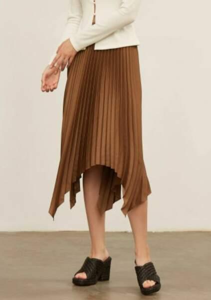 Jupe asymétrique avec plis, MOTF, 31,99€