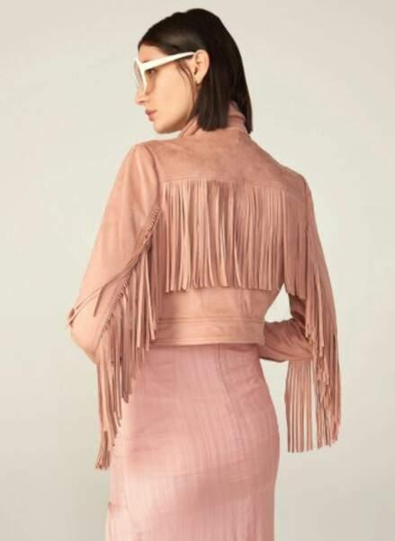 Veste courte en suédine avec franges, MOTF,  48,99€