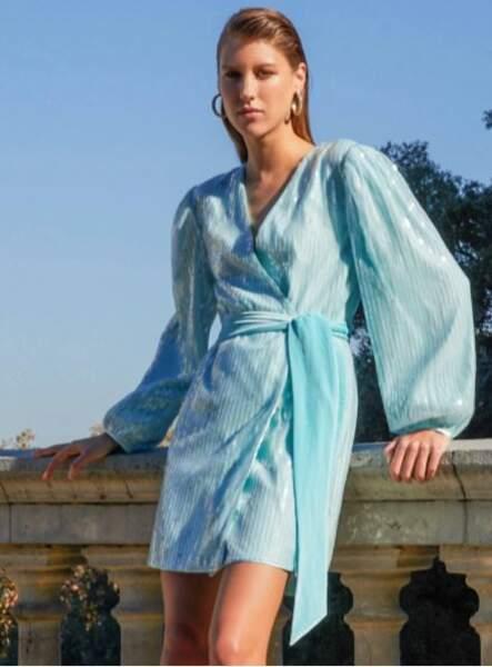 Robe portefeuille à sequins, MOTF, 57,99€