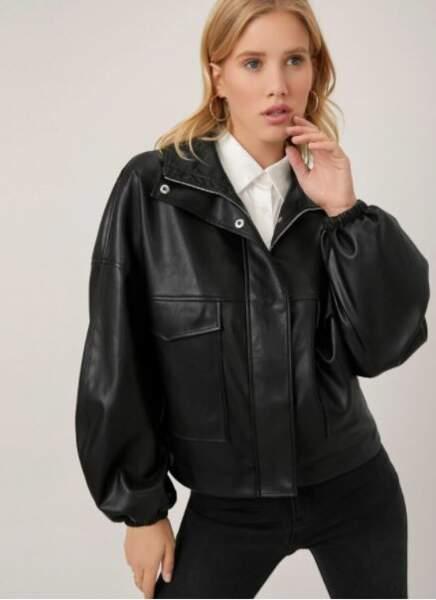 Veste oversize en cuir, MOTF, 44,99€