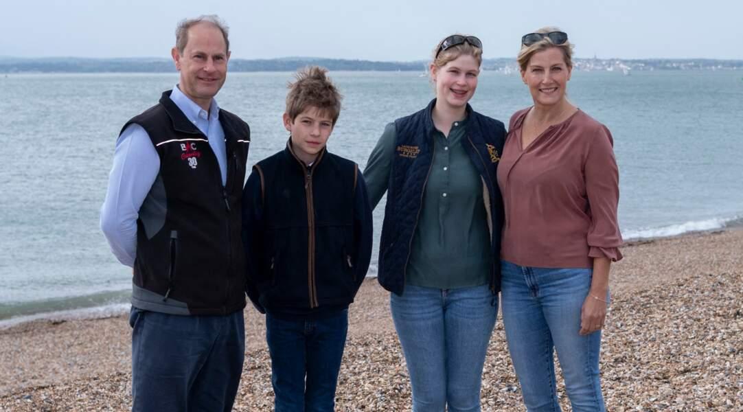 Edward et Sophie de Wessex, et leurs enfants Louise Mountbatten-Windsor et James Mountbatten-Windsor