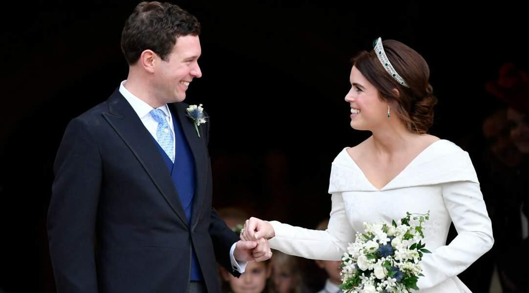 Princesse Eugenie et son époux Jack Brooksbank