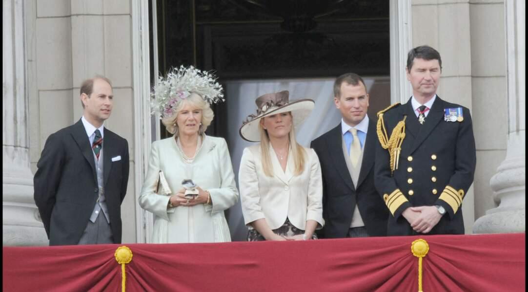 Peter Philips (deuxième en partant de la droite), fils de la princesse Anne