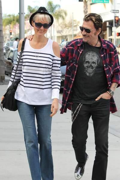 Johnny Hallyday en mode bûcheron