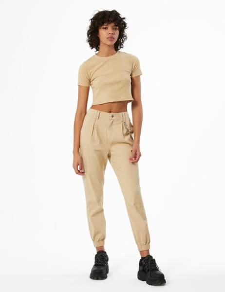 Pantalon cargo avec chaîne, Jennyfer, 19,99€