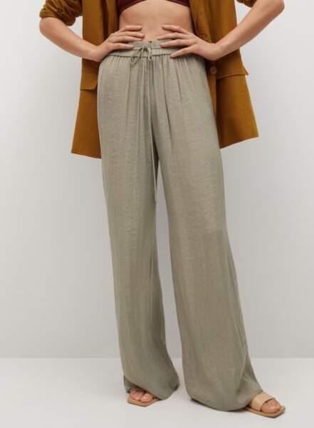 Pantalon palazzo fluide, Mango, 39,99€