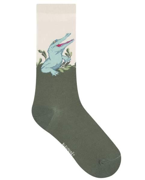Chaussettes bicolore, Bleuforêt 12€