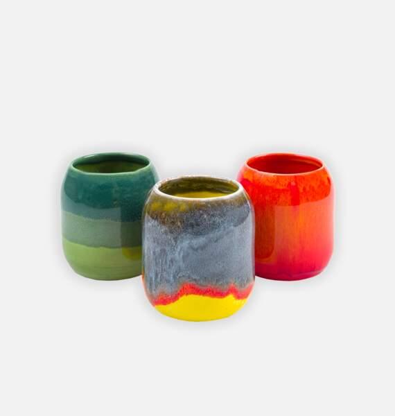 Pots en céramique, Tressé, 40€ l'un.