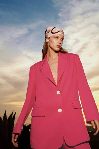Blazer rose large, Zara, 59,95 €