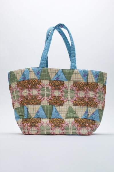 Sac patchwork, Zara, 49,95 €