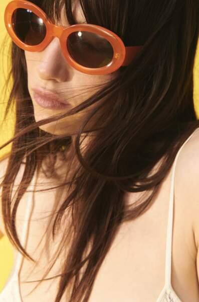 Lunettes de soleil monture orange, Zara, 17,95 €