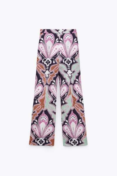 Pantalon imprimé, Zara, 49,95 €