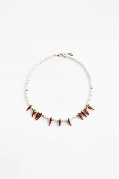 Collier en perlers piments, Zara, 12,95 €