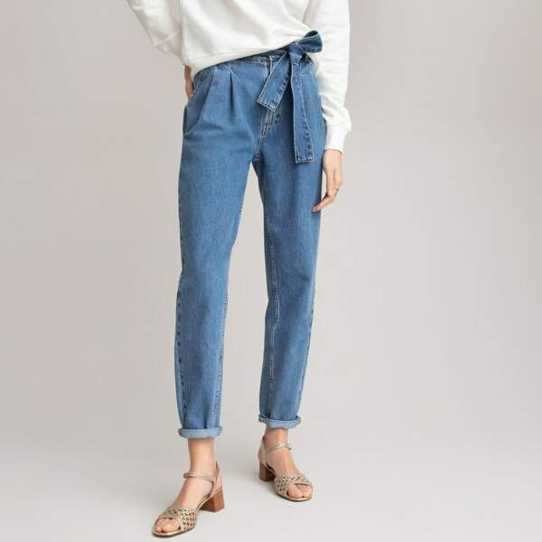 Jean taille haute en coton Oeko-tex, La Redoute Collections, 49,99€