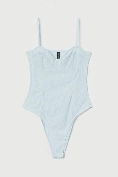 Body dentelle bleu clair, H&M, 19,99 €