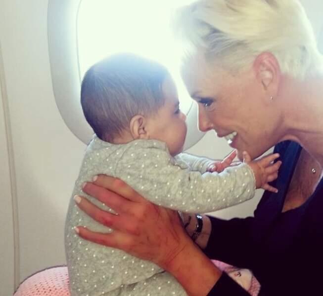Brigitte Nielsen et sa fille