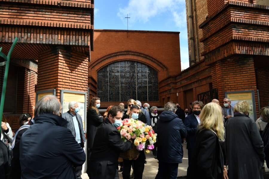 Obsèques de Jean-Yves Bouvier à l'Eglise d'Auteuil à Paris