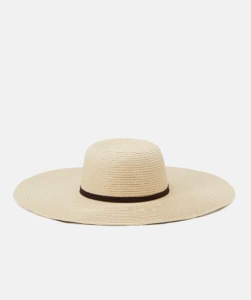 Chapeau de paille éco-responsable, Zign, 17,99€