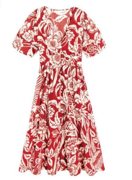Robe imprimée fleur, Promod, 49,95€