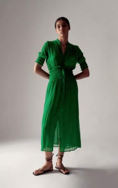 Robe plissée, Zara, 49,95€