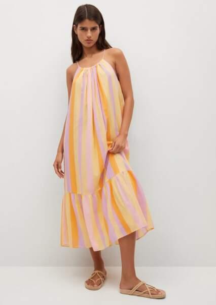 Robe fluide volantée, Mango, 39,99€
