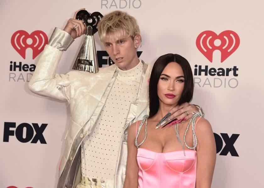 Machine Gun Kelly et Megan Fox aux iHeartRadio Music Awards 2021