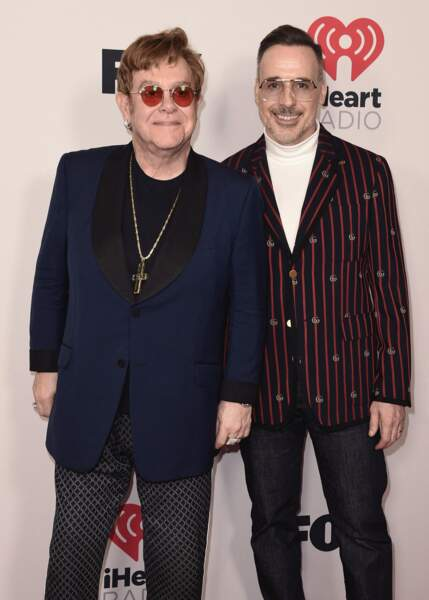 Elton John et David Furnish aux iHeartRadio Music Awards 2021