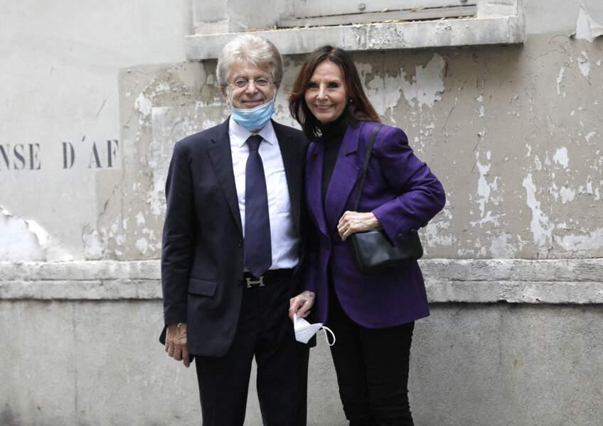Obsèques de Jacqueline Caurat : Denise Fabre et son époux Francis Vandenhende