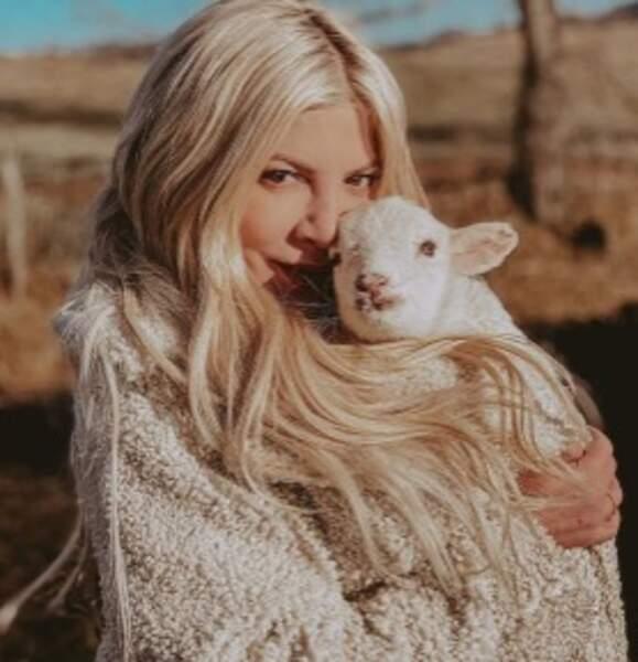 Tori Spelling et son cochon