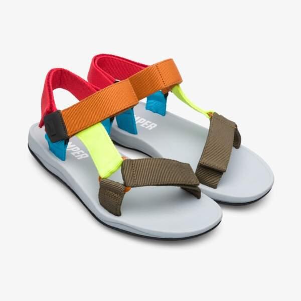 Sandales color block, Camper, 85 €