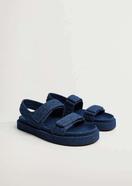 Sandales en denim, Mango, 49,99 €