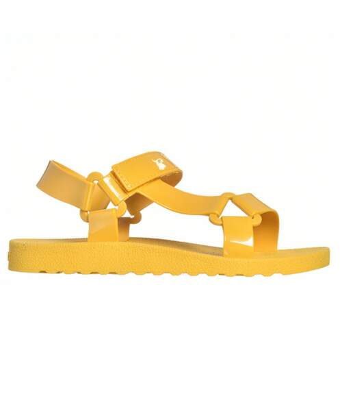 Sandales jaune poussin, Cacatoes, 50 €