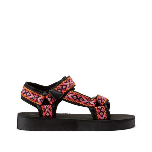 Sandales tissu, La Redoute, 29,99 €