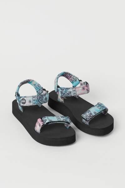 Sandales imprimé cachemire, H&M, 14,99 €
