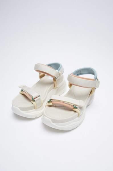 Sandales à plateformes, Zara, 49,95 €
