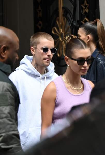 Justin Bieber et Hailey Bieber de passage à Paris ce lundi 21 juin