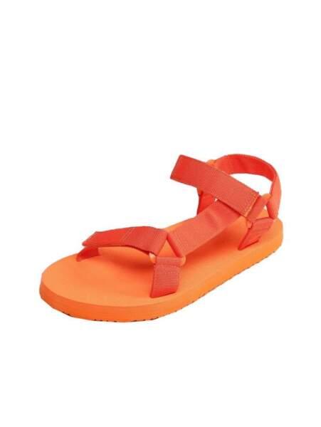 Sandales orange, SHEIN, 13 €