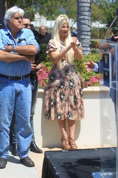 Tori Spelling et Jay Leno