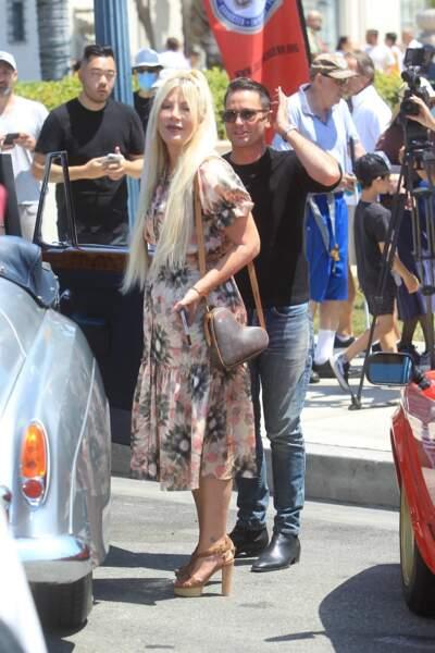 """Tori Spelling participe au rallye """"Concours d'Elegance"""" à Beverly Hills, le 20 juin 2021"""