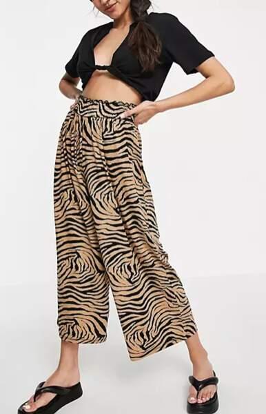 Pantalon culotte imprimé animal, Asos Design, 27,99€