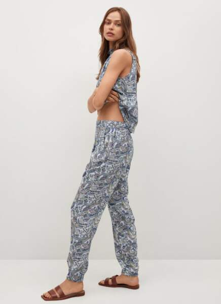 Pantalon imprimé paisley, Mango, 29,99€