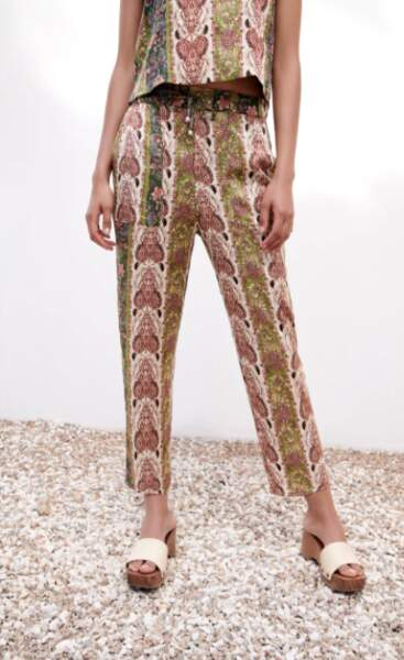 Pantalon fluide, Zara, 39,95€