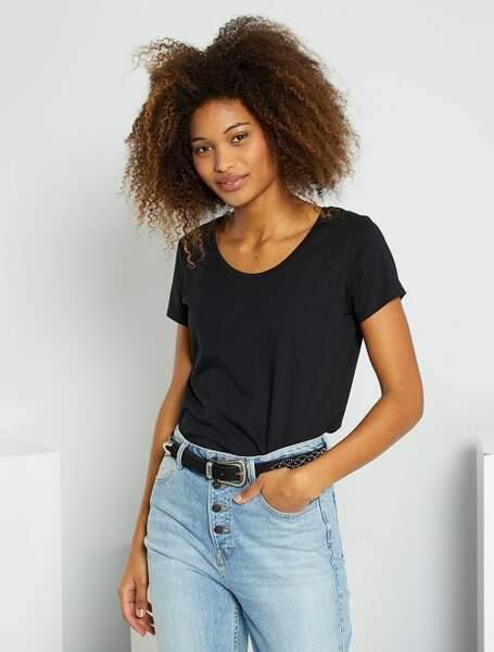 T-shirt basique éco-conçu, Kiabi, 3€