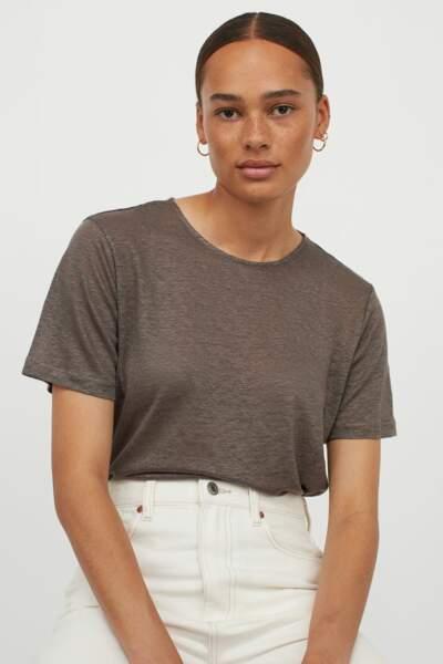 T-shirt en jersey de lin, H&M, 14,99€