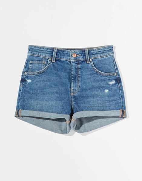 Short en jean basic, Bershka, 15,99€