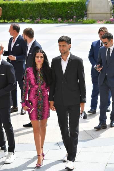 Javier Pastore et sa femme au mariage de Marco Verratti et Jessica Aïdi