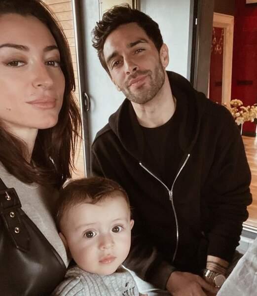 Rachel Legrain-Trapani, Valentin Léonard et leur fils Andréa